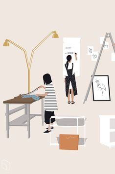 Flat vector furniture and people silhouettes Architecture People, Architecture Graphics, People Illustration, Digital Illustration, Render People, Cut Out People, Collages, Photoshop Rendering, Collage Drawing