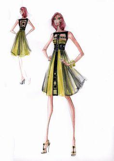Blanka Matragi - sketch of dresses