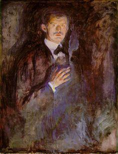 Selfportrait, 1895, Edvard Munch ۩۞۩۞۩۞۩۞۩۞۩۞۩۞۩۞۩ Gaby Féerie créateur de bijoux à thèmes en modèle unique ; sa.boutique.➜ http://www.alittlemarket.com/boutique/gaby_feerie-132444.html ۩۞۩۞۩۞۩۞۩۞۩۞۩۞۩۞۩