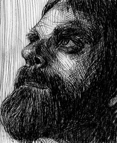 @curiousinkyme posted to Instagram: Todays ink drawing, I love a good beard, lots of chance to create texture using repetitive marks... I also love drawing portraits with people looking upwards.. it reminds me of growth, pausing to reflect on the present amidst the tough times. I have the quote from 'the creative pep talk' podcast in my head today by @Andyjpizza  'Life is hard- but that doesn't mean its bad. Hard and bad are not the same thing' sometimes the things we need to hear are in… Drawing Portraits, Pep Talks, Drawing Challenge, Life Is Hard, Love Drawings, Tough Times, Printmaking, Quote, Ink