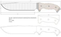 Resultado de imagen para cuchillos plantillas con medidas