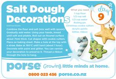 On the 9th day of Christmas PORSE Crafts gave to me... A Salt Dough Decoration Recipe!