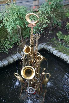 Great musical instrument fountain.