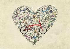 I Love Brompton Bikes Art Print by Andy Scullion | Society6