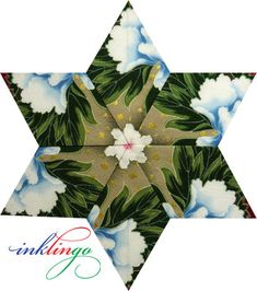 Kaleidoscope Stars – No Waste Fussy Cutting on http://www.lindafranz.com/blog/kaleidoscope-stars-no-waste-fussy-cutting/