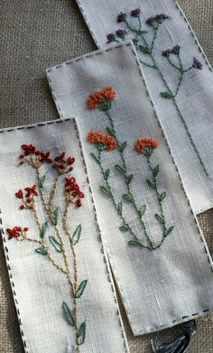 Ideas for embroidered bookmarks