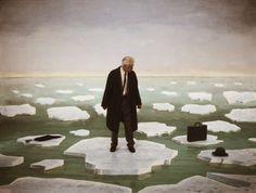 Man on Ice, 2003-14, archival digital giclée print on dibond, cm 90x120