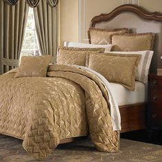 Buy Traditions Linens Farrah Full/Queen Coverlet in Navy ...