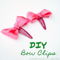 Make your own bow clips.  http://www.scatteredthoughtsofacraftymom.com/2012/11/howtomakehairbows.html