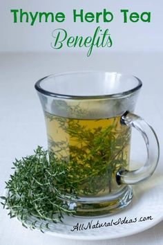 The thyme herb tea benefits have been known for ages. Drinking this magical tea may provide relief for many ailments. Make the switch from coffee! | allnaturalideas.com via @allnaturalideas