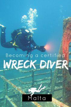 Becoming a certified wreck diver in Malta (wreck diving, scuba diving) - World Adventure Divers – Read more on https://worldadventuredivers.com/2016/08/29/becoming-a-certified-wreck-diver-in-malta/
