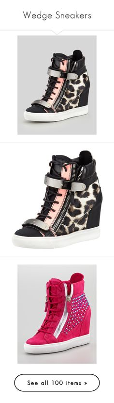 """""""Wedge Sneakers"""" by park-tal-jae ❤ liked on Polyvore featuring shoes, sneakers, giuseppe zanotti, heels, wedge sneaker, leopard high top sneakers, hi top wedge sneakers, zip high top sneakers, lace up wedge sneakers and high top shoes"""