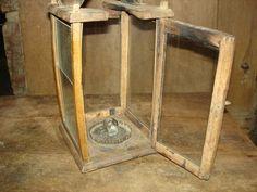 18th C Old Original RARE Early Primitive Wood Wooden Candle Holder Barn Lantern   eBay