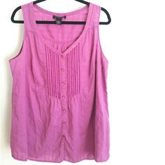"""Lane Bryant 20 Cotton Embroidered Sleeveless Top This Lane Bryant size 20 Cotton Embroidered Sleeveless Top is in good used condition. 100% cotton,  no stretch. Bust measures 24.5 inches across laying flat, measured from pit to pit, so 49 inches around. 29"""" long. Color is a cross between pink & violet. ::: Bundle 3+ items from my closet and save 30% off when you use the app's Bundle feature! ::: No trades. Lane Bryant Tops"""