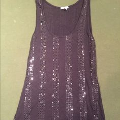 Sparkly black tank top Gently used sequin top. Some sequin have faded, noted in price. Old Navy Tops Tank Tops