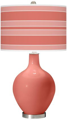 Coral Reef Bold Stripe Ovo Table Lamp   Style # X1360 X8892 X9002