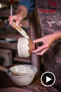 Phil Rogers | In this film potter Phil Rogers glazes a series of pots in his studio while discussing his new glaze mixtures. Watch here to learn more.