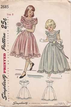 She this is lovely! Vintage 1940s Girls' Dress in Two Lengths with by SewKnotMe, $8.00