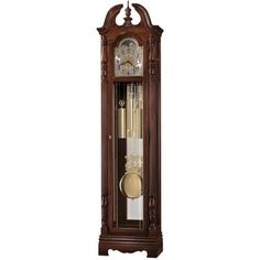 Howard Miller Classic Duvall Grandfather Clock Style Standing Clock with Pendulum and Movements, Reloj de Pendulo de Piso (Cherry Finish), Brown(Wood) Howard Miller, Home Wall Decor, Interior Lighting, Polished Brass, Glass Panels, Cut Glass, Antiques, Grandfather Clocks, Blue Moon