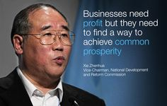 Xie Zhenhua at the World Economic Forum Annual Meeting of the New Champions 2014.