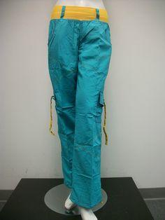 Zumba Fusion Cargo Pants green yellow