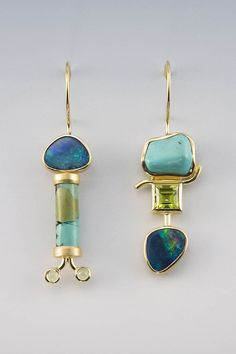 Janis Kerman | 18kt yellow gold, Boulder Opal, Turquoise & Peridot | Max's