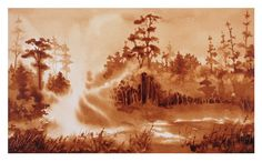 """""""Morning Lift"""" Artist: Steven Mikel - Coffee Painting"""
