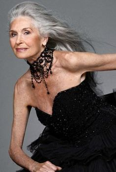 "Model Daphne Selfe on growing older: ""My generation just got on with life. I do find people are always complaining these days. I try to remain cheerful, not grumpy. I've developed glaucoma, but the drops I have to put in my eyes have made my lashes grow! So there is always a plus side."""