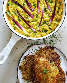 Easy, breezy, fluffy! Springtime veggies are added to this easy to whip up frittata. Perfect for Sunday brunch, or a light midweek dinner. #frittata #springvegetables #whatsfordinner #brunch #savorybrunch #quickmeal #eggs #vegetarian
