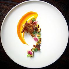 """""""A walk through the woods."""" Pan-seared quail 
