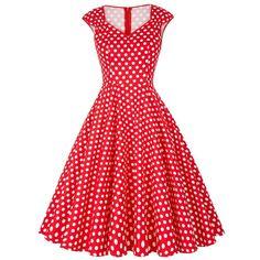 Casual Women Dress Summer Retro Vintage Dresses Floral Print Dot Robe Femme Rockabilly Plus Size Pinup Swing Party Dress