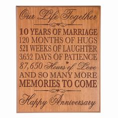 8c20787600c Personalized Wedding Anniversary Wall Plaque Gifts for Couple