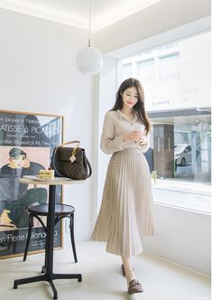 DIY blue striped linen clothes For Women o neck Sleeveless Art summer Dresses hijab fashion; Magical Summer Outfits to Wear Now – Wass Sell Via Solari, Milan Long Skirt Fashion, Long Skirt Outfits, Korean Fashion Dress, Ulzzang Fashion, Korean Street Fashion, Modest Outfits, Classy Outfits, Modest Fashion, Fashion Dresses