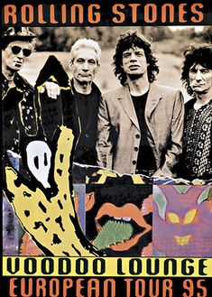 Rolling Stones Voodoo Lounge, Anonymous Artists, 1994 European Tour (1995)