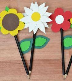 Ponteira de lápis de flores de EVA