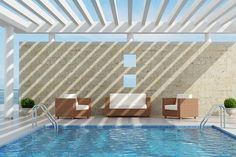 Cool It! 5 Shade Ideas For Your Pool and Patio Cool It! 5 Shade Ideas For Your Pool and Patio - Pool Pool Shade, Backyard Shade, Backyard Pergola, Pergola Shade, Pool Gazebo, Pergola Cost, Backyard Pools, Cheap Pergola, Luxury Swimming Pools