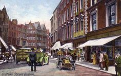 Shop Postcard, Grafton Street, Dublin Postcard created by Personalize it with photos & text or purchase as is! James Joyce, Dublin Street, Dublin City, Grafton Street, Photo Engraving, Ireland Homes, Back In Time, Ireland Travel, Vintage Postcards