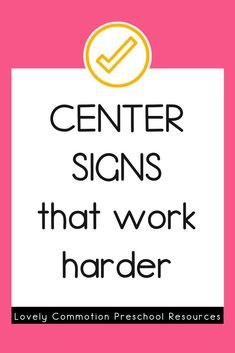 Do you need center signs for your play-based classroom that work harder for you? These center labels also serve as a tool to educate visitors to your preschool or pre-k classroom. Play Based Learning, Learning Centers, Center Labels, Child Teaching, Center Signs, Preschool Centers, Meet The Teacher, Work Harder, Ways To Communicate