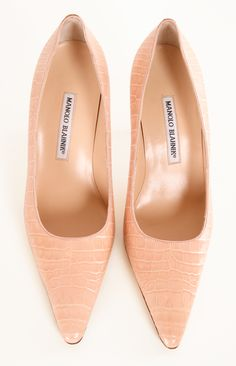 MANOLO BLAHNIK HEELS - these may be a little too pale, if not, then perfect addition to my closet