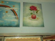 """""""uma bela foto da rosa e a maça. e uma pintura. com o tema a fome."""" Por Anderson Santos"""