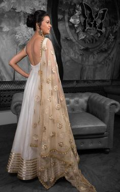 Free Shipping New Grey Nylon Net Saree Beautiful Golden Stones Embroidered Indian Clothing Antique Sarong Wedding And Party Wear 5 Yrd.