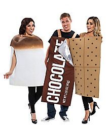 adult 3 piece smores costume