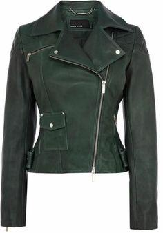 New Karen Millen Womens Biker Jacket Green JR137 Size 12 RRP £395 | eBay