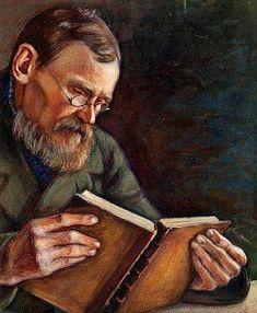Hämäläinen, Väinö  (1876-1940) A man reading, 1897