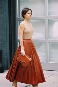 9 Takes On The Leather Skirt from Street Style's Best