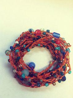 Orange You Pretty Versatile crocheted necklace / by FleasKnees, $15.00