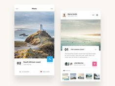 Traveling app designed by Eduard. Connect with them on Dribbble; the global community for designers and creative professionals. Ui Design Mobile, App Ui Design, User Interface Design, Design Web, Mobile Ui, Graphic Design, Travel Guide App, Calendar App, Music App