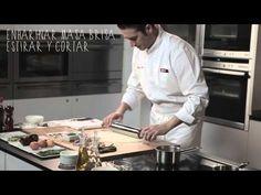 Video-receta: Sardinas con espárragos verdes y crujiente de yema de huevo - YouTube
