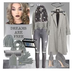 """""""10 Shades of Grey , part 1"""" by mirandamir4 ❤ liked on Polyvore featuring Lime Crime, Park B. Smith, Zara, Gianvito Rossi, H&M, Designers Remix, Isadora, Kenneth Jay Lane, Illesteva and Corinne McCormack"""