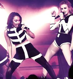 Leigh and Perrie at the Little Mix DNA Tour 2013
